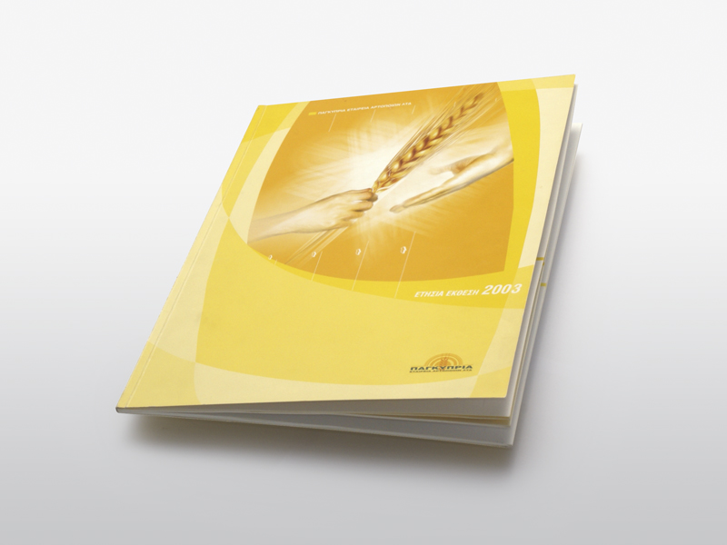 Annual Report design for a bakers company